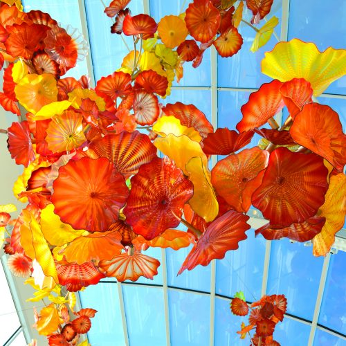 <center>アメリカ(シアトル) – チフリガーデンアンドグラス レポート <br><small>AMERICA – Chihuly Garden and Glass</small></center>