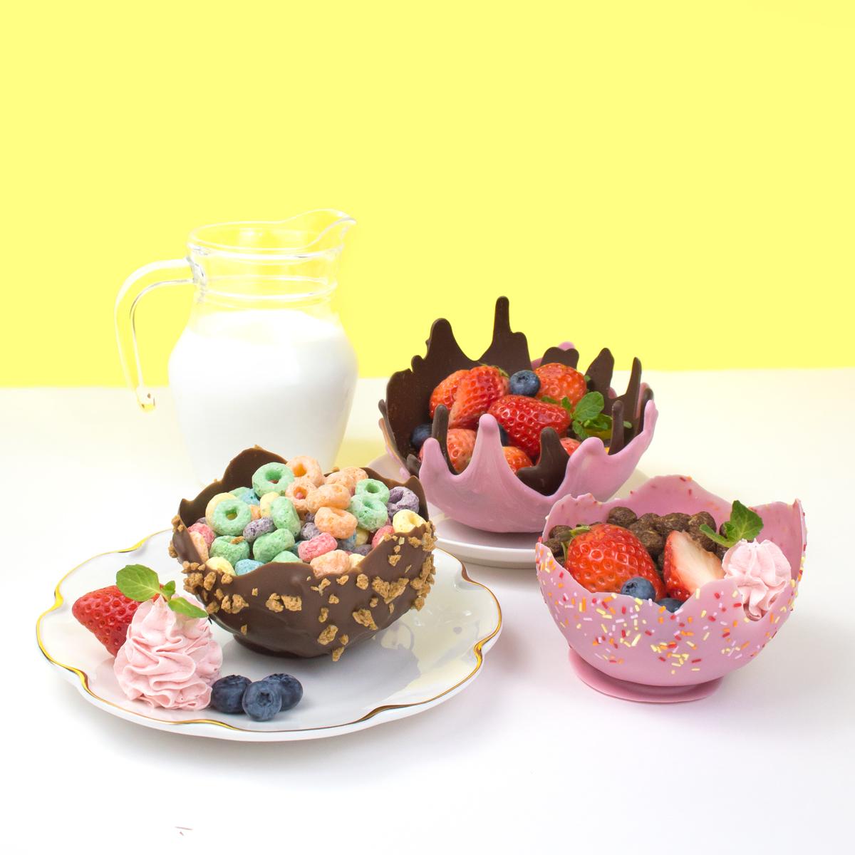 <center>食べれるお皿!風船で作る簡単チョコレートボウルの作り方 <br><small>Edible Chocolate Bowl</small></center>