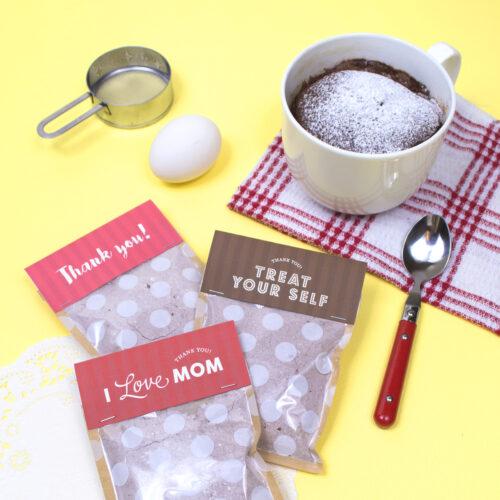 <center>レンジで簡単調理!マグカップチョコレートケーキギフト(無料素材) <br><small>Mug Chocolate Cake Gift</small></center>