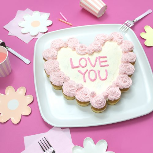 キャンディハーツ♡プルアパートカップケーキの作り方 </big><br><small>Pull Apart Cupcakes</small>