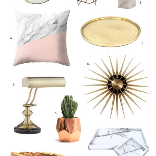 ゴールド効かしの「家具&インテリア雑貨」24選!私がアマゾンほしいものリストに加えたもの。<br><small>Home Decor Wishlist</small>