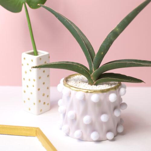 100均の材料で作る!簡単&可愛いポンポンプランター(鉢)の作り方<br><small>Easy Pom Pom Planter</small>