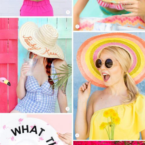 <center>週末DIY「麦わら帽子」のおすすめ DIY 6選 <br><small>Weekend DIY – Summer Hats</small></center>