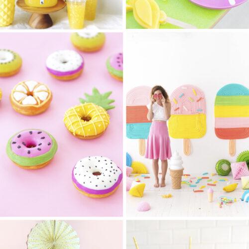 <center>週末DIY「サマーパーティ」におすすめの DIY 6選 <br><small>Weekend DIY – Summer Party</small></center>