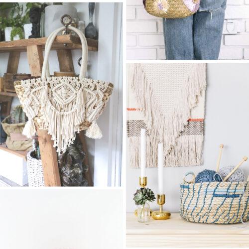 <center>週末DIY「かごバック&バスケット」のおすすめ DIY 6選 <br><small>Weekend DIY – Basket Bags</small></center>