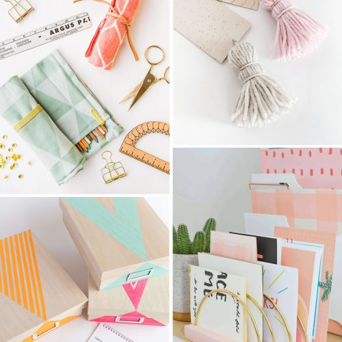 <center>週末DIY「デスク周り・ステーショナリー」のおすすめDIY 8選 <br><small>Weekend DIY – Back to School</small></center>