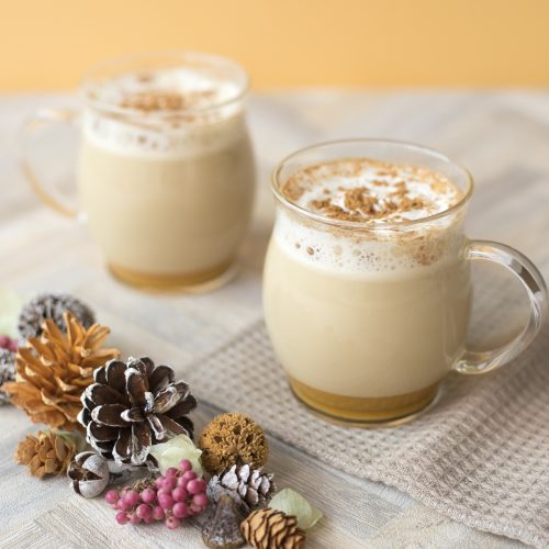 <center>アメリカのスタバ風!パンプキンスパイスラテのレシピ<br><small>Pumpkin Spice Latte</small></center>